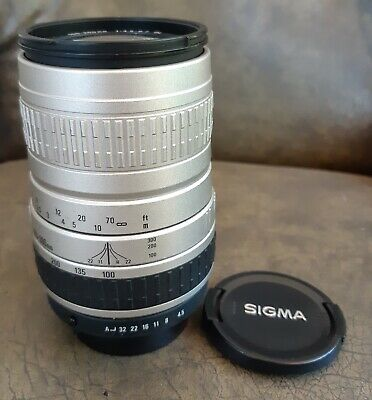 SIGMA 100-300Zoom Lens for 35mm SLR FILM CAMERA-SILVER!Great Condition.
