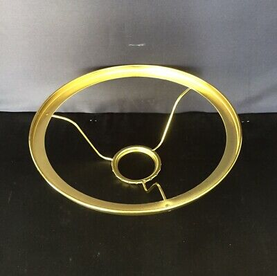 "Aladdin Oil Lamp Shade Ring - for use with 10"" Glass Shades - Brass Colour"