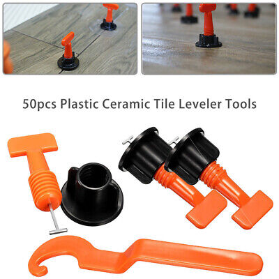 50Pcs Useful Reusable Tile Leveling Positioning System Leveler T-lock Floor Tool