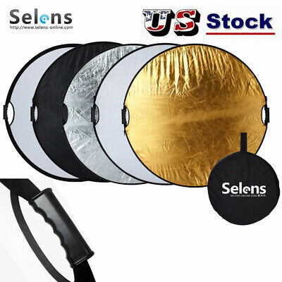 """Selens 110cm 43"""" 5in1 Handheld Reflector Light Mulit Collapsible Portable Disc"""