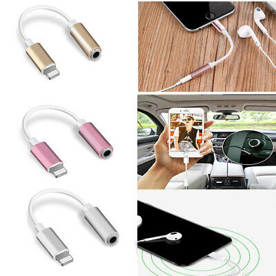 Lightning 3.5mm AUX Audio USB Cable Adapter Earphone For iPhone 6S 7 8 Plus X XS