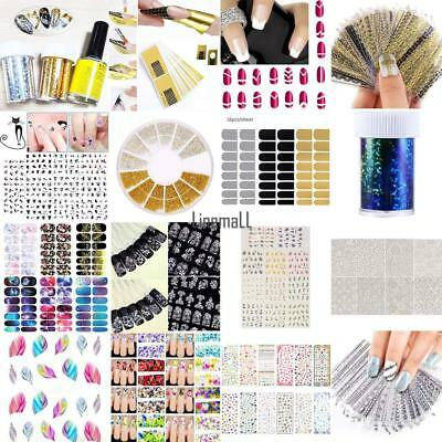 Nail Art Design Water Transfer Nails Sticker Colorful Nails Wraps Decals LM