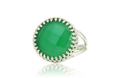 6be7f3e707f FANCY 16CT GREEN Onyx Ring in 925 Sterling Silver by Anemone Jewelry for  Women