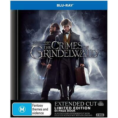 NEW Fantastic Beasts: The Crimes of Grindelwald Extended Cut Digibook Blu-ray