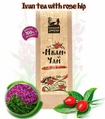 Organic Ivan Tea Willowherb Fireweed Chai with Rose Hip 50g from Altai
