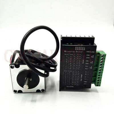 Stepper Motor Nema23 330oz-in 2.2NM 1.8° 4-wires+TB6600 Driver Kit 3A CNC Router