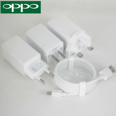 ORIGINAL 5V 4A Super Fast Charger and VOOC USB Cable For OPPO R7 R9 R11 R15  Plus