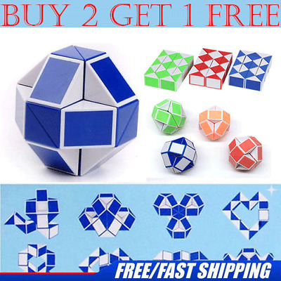 Magic Snake Ruler Puzzle Toy 24 Speed Blocks Snake Twist Puzzle Children Educational Game Toys Magic Cube For Kids Gift Toys & Hobbies