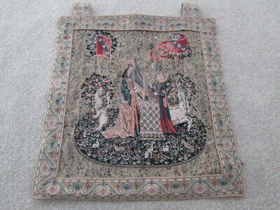 Metrax Jacquard Woven Hanging Tapestry Hearing Panel Lady & The Unicorn Flanders