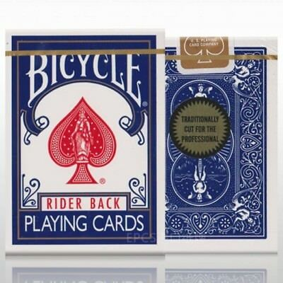 Bicycle Gold Seal Standard Playing Cards BLUE Rider Back Deck by Richard Turner