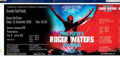 Roger Waters Set 5 Used Concert Ticket Biglietto Concerto Pink Floyd Roma Mi Bo