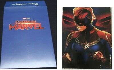 Marvel Studios Captain Marvel Disney Store Lithograph Poster! Limited Release!