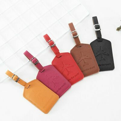 Creative Aircraft Pattern Luggage Tag Leather Travel Accessories