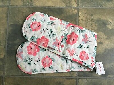Bnwt Cath Kidston Pink Regents Rose Double Oven Gloves
