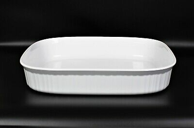 CORNING WARE F21B French White 4.5L Open Roaster, Casserole or Lasagna Pan A