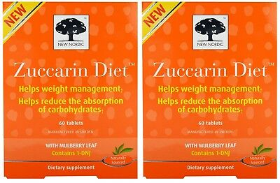 New Nordic Zuccarin Diet 60 Tablets Pack of 2