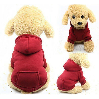 New Pet Winter Hooded Coat Jacket Puppy Cat Dog Apparel Clothes Warm Fashion