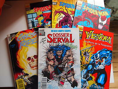 Lot marvel années 90 | SERVAL VENOM SPIDER-MAN GHOST RIDER