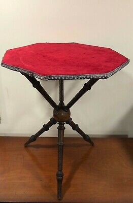 Victorian Walnut Octagonal Gypsy Tarot Reading Table - Delivery Available