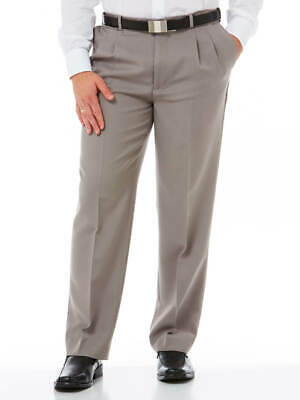 Robert Huntley ClassIc Pleated Front Trouser Taupe