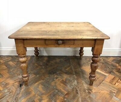 Antique Pine Farmhouse Kitchen Table - Delivery Available