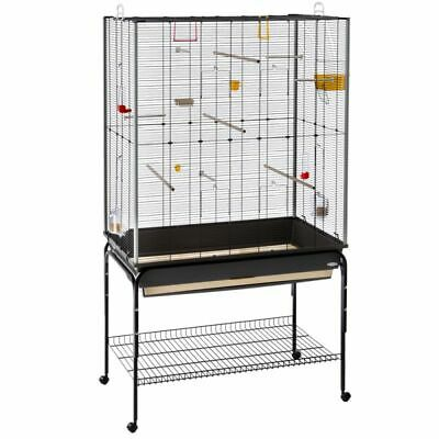 Bird Cage Canary Finches Aviary With Stand on Wheels
