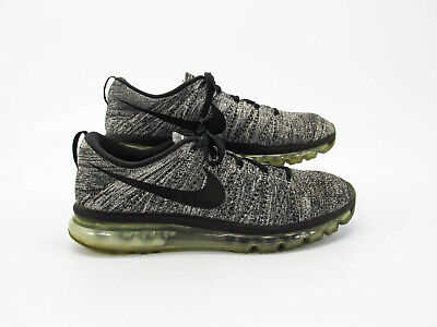 Nike Flyknit Air Max Men Gray Running Sneaker Shoe Size 13M Pre Owned HJ