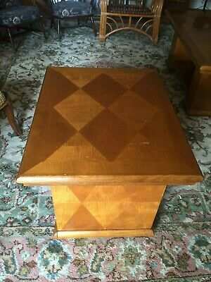 Pair Of Solid Wood Modernist Tables.(Danish Possibly)