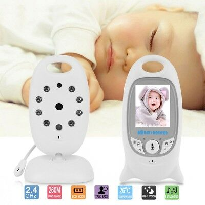 f5cea93aef6a Wireless Two Way Talk Baby Monitor Night Vision Video LCD Nanny Security  Camera