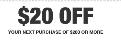 Home Depot In Store $20 off $200, expires 3/17/19