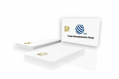 FM4428 Contact Chip PVC Smart Card, ISO7816, Blank White, Gloss Finish