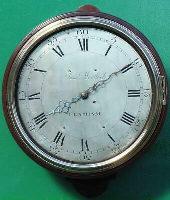"Early English Georgian 8 Day Verge Fusee 12"" Dial Clock Samuel Mortlock Clapham"