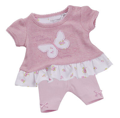 Baby Girls Outfit Butterfly Leggings and T-shirt Set Newborn up to 18-24 Months