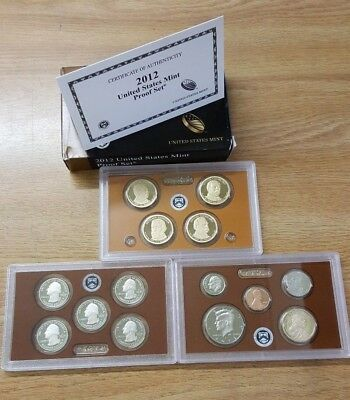 2012 S United States Mint Proof 14 Coin Set W/ Coa