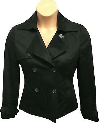 PRE-OWNED Ladies Topshop Plain Black Casual Hip Blazer Jacket Size 12 BS325