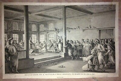 Ottoman Empire Moreau Le Jeune 18Th Century Antique Copper Engraved Plate