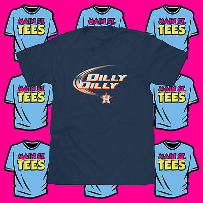 e913d283455 Dilly Dilly Bud Light Houston Astros Logo Shirt Men s Tee Adult   Youth  Sizes