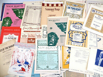 PIANO SHEET MUSIC Large Lot of 94 OLD STORE STOCK early 1900s 1920 1930s  1940s