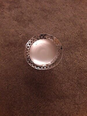 Silver plate EPNS small dish on stand.