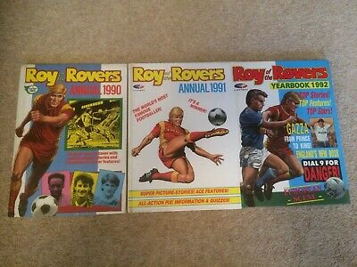 Roy Of The Rovers Annuals 1990 1991 1992