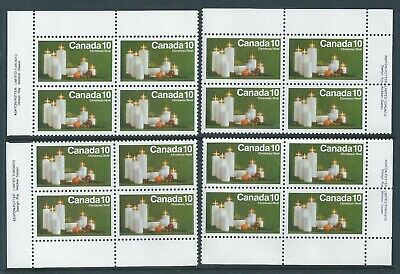 Canada #608 Christmas - Candles Matched Set Plate Block MNH