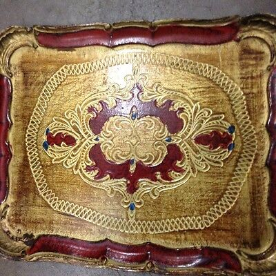 A Lovely Lacquered/painted Serving Tray