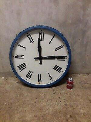 Very Large Antique Electric Wall Clock - Inset Type - Factory / Industrial -27''