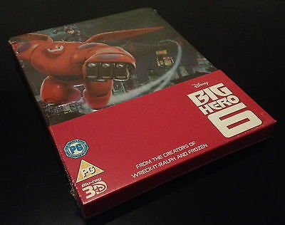 Steelbook Blu Ray 3D/2D Big Hero 6 Zavvi Exclusive // Oos New