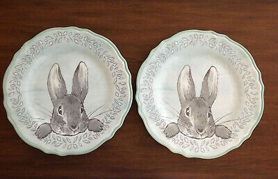 2 Pottery Barn Kids Beatrix Potter Peter Rabbit Easter Charger Dinner Plates~NWT