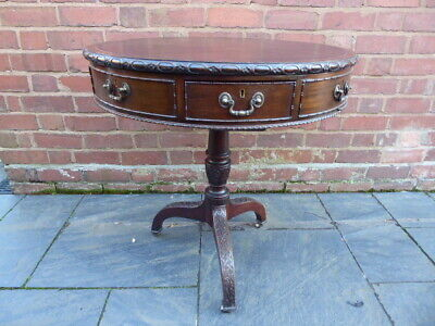 Mahogany circular drum rent table c1920's
