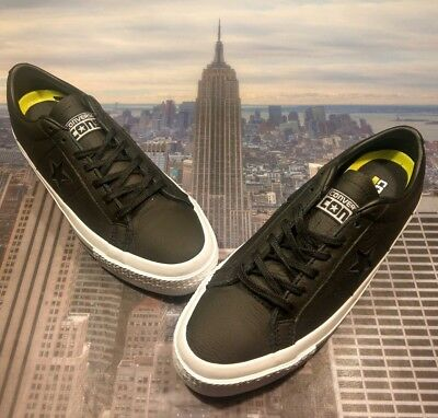 830a8a16d12 Converse One Star Leather Ox Low Top Black Black-White Mens Size 8 153714c