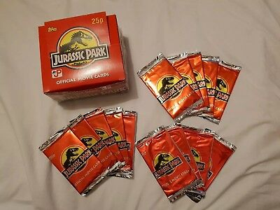 Jurassic Park Topps 1992 Official Movie Cards Sealed Packets (1 pack) Brand New