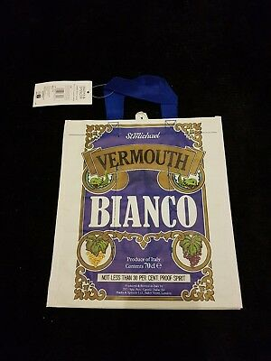 M&S 3 Bottle Wine Carrier Vermouth Bianco Shopping Reusable Bag for Life New