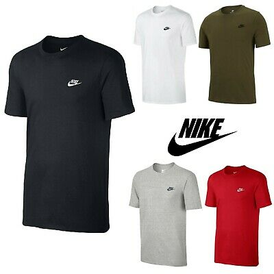 c426127c Nike Mens Core Embroidered Futura Club Crew T-Shirt Casual Free Tracked Post